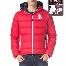 Homme franklin marshall uk large goose down chicago doudoune manteau rouge capuche