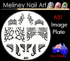 A51 Stamping Nail Art Image Plate Design Round XL Stencil metal