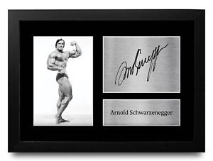 Arnold Schwarzenegger Signed Print A4 Photo a Body Building Mr Olympia Fan Gifts