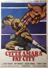 """""""LA DERNIERE CHANCE (FAT CITY)"""" Affiche originale italienne entoilée John HUSTON"""