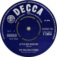 Rolling Stones Little Red Rooster record label vinyl sticker. Decca