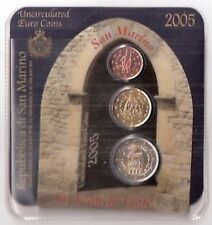 San Marino coincard 2005 2 cents,20cents, 2 euro
