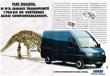 Publicité Advertising 1994 (2 pages) Fourgon Utilitaire Fiat Ducato