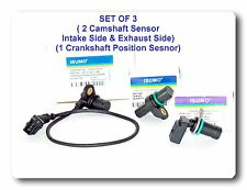 Set of 3 (2 Engine Camshaft  & 1 Cranskshaft Position Sensor Fits: BMW