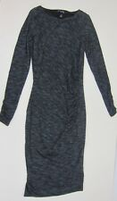 Long Tall Sally Space Dye Ruched Side Dress - Womens US 6 - Charcoal - NWT