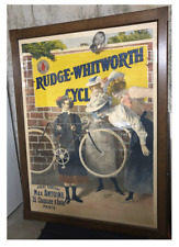 Rudge-Whitworth Cycles Original Vintage Poster - Framed - 1900 - H Gray
