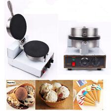 Nonstick Electric IceCream Waffle Cone Egg Roll Maker Making Machine 1200W 220V