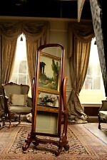 Solid Mahogany Cheval Mirror Bedroom Mirror H165 x W60 x D56 cms NEW MR003(N)
