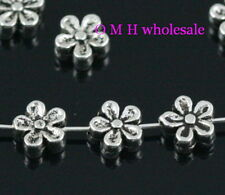 tibetan silver flower spacer beads Jewelry metal beads 7X3mm ZL137 Free ship