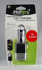 Hottips High Perfomance Car Charger for iPod iPhone APPLE CERTIFIED Tip Included