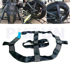 Black Motorcycle Rear Wheel Tie Down Strap Transport Safety Belt Tire Harness 1x