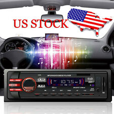 Car Radio Stereo Head Unit MP3 Player USB SD AUX Receiver FM In-Dash