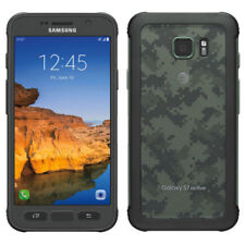 Unlocked Samsung Galaxy S7 Active SM-G891A 32GB Camo Green Phone - LCD Shadow