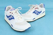 Vintage SAUCONY SHADOW 6000 White/Blue Running Shoes DS NIB Mens Size 9.5