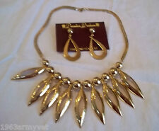 NEW Park Lane Contemporary Gold Plated Necklace & Premier Dangle Earrings Set