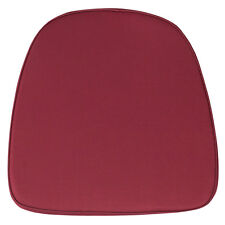 Burgundy Fabric Chiavari Chair Seat Cushion For Wood Chiavari Chairs