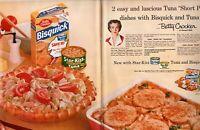 1957 2 PAGE ORIGINAL VINTAGE BETTY CROCKER BISQUICK MAGAZINE AD