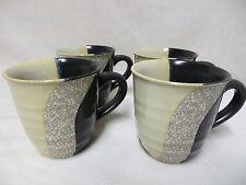 Sango Dunes Coffee Mug Cup Set 4 Dinnerware Stoneware