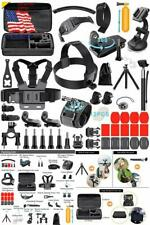 59 Piece GoPro HERO 7 6 5 4 Black Silver White Accessories Kit Action Camera Set