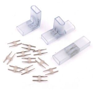 8X1 6mm 2pin Connector L I T Adapter Clip for 2835 5050 Neon LED Strip Lights