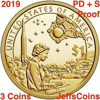2019 PDS SACAGAWEA NATIVE AMERICAN Indians The Space Program P D S PROOF Dollars