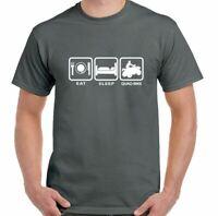 Quad Bike T-Shirt Eat Sleep Mens Funny Quad Biking Biker