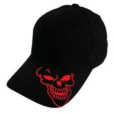 Black Skull Skateboard Biker Halloween Costume Ball Gothic Goth Baseball Hat Cap