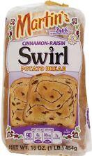 Martin's Famous Pastry Cinnamon Raisin Swirl Potato Bread- 16 oz. Bag (3 Bags)