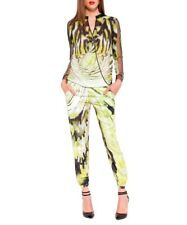 Forever Unique Animal Snake Print Sheer Beach Trousers Pants Black Lime 10 8