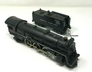 Postwar American Flyer 293 Steam Engine w/ Smoke Choo Choo & Light -DC Can Motor
