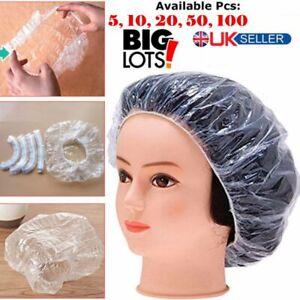 Shower Cap Bathing Elastic Clear Hair Care Protector Hat Cap 5/10/20/50/100 pcs