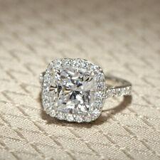 Flawless GIA Certified Diamond Engagement Ring  2.15 CT Cushion Cut Platinum