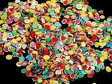 fimo  frutas nail art 1000 unds aprox