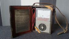Vintage Leather Cased MEG Tester Model IS4 (Shoulder Strap Yellow Leather)