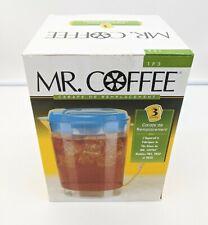 Mr Coffee Replacement Pitcher Ice Tea Maker Blue Lid  3 Qt FitsTM3 TM3P TM3D NEW
