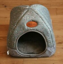 Pets House Igloo Cute Warm Padded Fleece Winter Bed Cat hut House Kennel UK