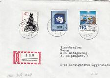Germany 1981 20th anniversary of Antarctic Treaty Registered Cover VGC