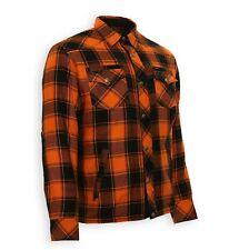 Gr.L Bores Lumberjack Motorrad Hemd mit Aramid Biker Harley Style orange-schw.