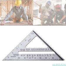 90° 45° Set Square Protractor Silver Try Square Measurement Ruler Carpenter Tool