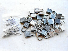 20 Small Metal Padlocks Mini Tiny   Luggage ... Art,Craft,Decoration  Lock  Key