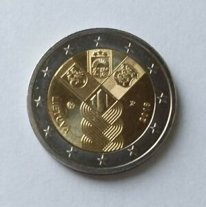 Commemorative 2 Euro Coin Lithuania 2018 100th Anniversary Of The Baltic States
