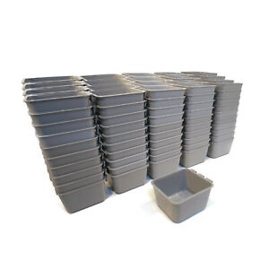 (Pack of 200) Gray Cage Cups hold 1 Pint (16 fl oz) to Hang Feed & Water for Pet