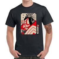Japanese Samurai Men T-Shirts Funny Graphic Shirt Cotton Short Sleeve Top Tees