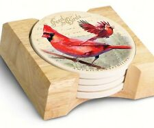 American Expedition Northern Cardinal Stone Coaster, Set of 4