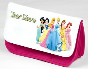 Personalised DISNEY PRINCESS Pencil Case With Any Name | School Stationery Bag