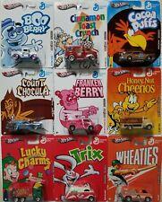 Hot Wheels Pop Culture General Mills Complete Set 9 Cars 2011 - NEW