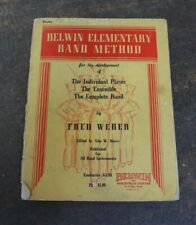 """""""Belwin Elementary Band Method"""" Drum Book by Fred Weber"""