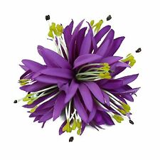 Hawaii Hair Clip Lei Luau Competition Flower Dance Large Spider Lily Purple Soli