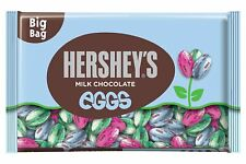 Hershey's Milk Chocolate Solid Eggs Candy, Blue, Green, Pink Wrapped, 18 oz