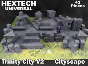 HEXTECH - Trinity Cityscape Set - Epic 40k - Battletech - Scenery - 6mm - AT